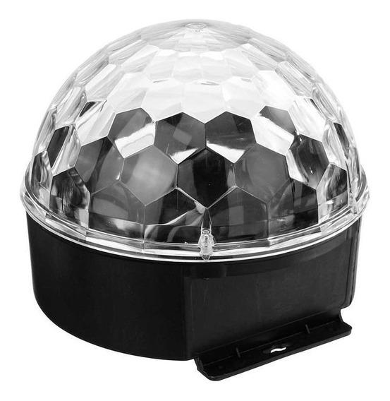 Parlante Media Bola Audiorítmica Luces Led Magic Ball Light