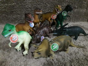 8 Super Dinossauros Borracha Tamanho Grande !
