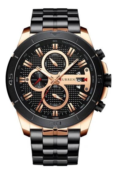 Relógio Curren Marca De Luxo Rose Black 2019
