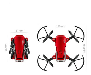 Mini Dron Plegable Color Rojo Ev9814