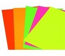 Cartulina Colores Fluo Por Unidad Fluorecentes