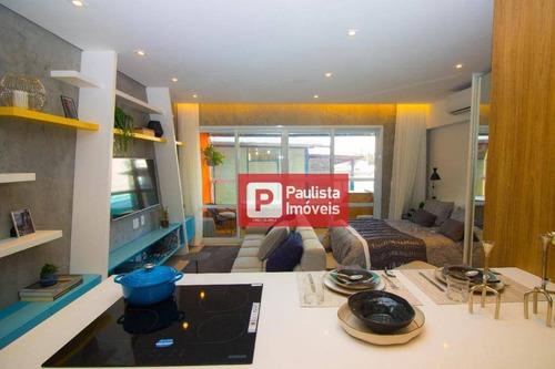 Apartamento Com 1 Dormitório À Venda, 47 M²  - Campo Belo - São Paulo/sp - Ap26498