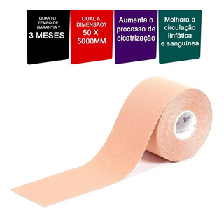 Fita Kinesio Tmax Multilaser Bege 5mt X 5cm Bandagem