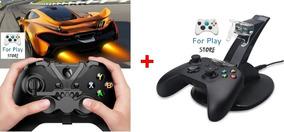 Kit Piloto Xbox One Mini Volante + Carregador P/ 2 Controles