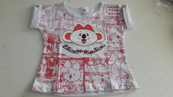 Camisa Infantil Personagens 10 Peças Atacado