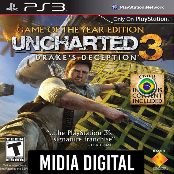 Uncharted 3 Game Of The Year Dublado - Ps3