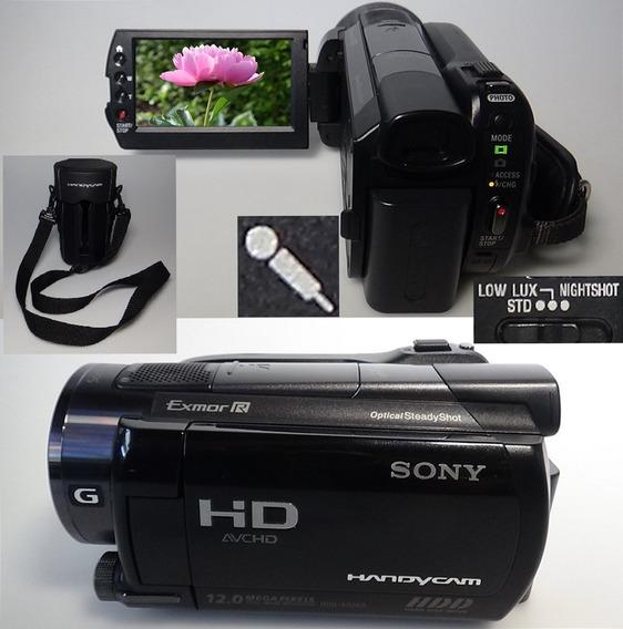 Filmadora Sony Hdr-xr500v Entrada Microfone Nightshot