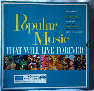 Box 10 Lp´s - Popular Music That Will Live Forever
