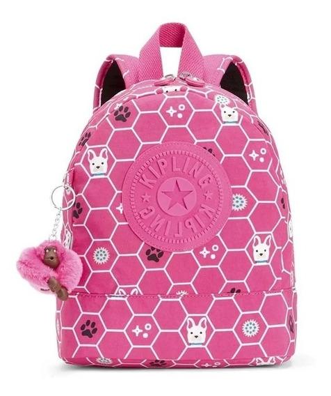 Mochila Infantil Sienna Rosa Pink Dog Tile Kipling