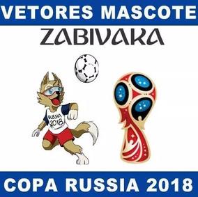 Vetores Mascote Copa 2018 Zabivaka