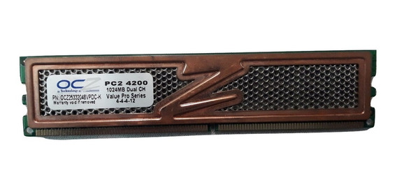 Memoria Ddr2 Ocz 1gb Pc2-4200 533mhz 16 Chips 13