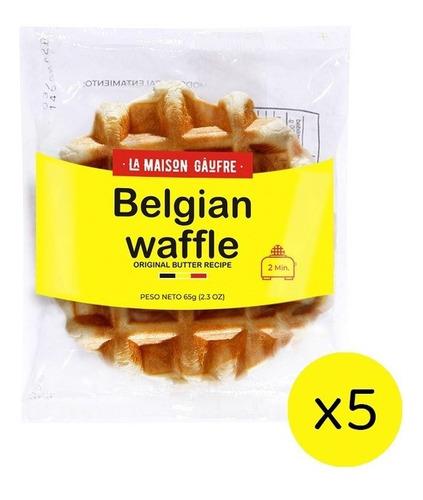 Waffle Belga Original X 65gr  Pack X5 Un - Dulce 1° Calidad