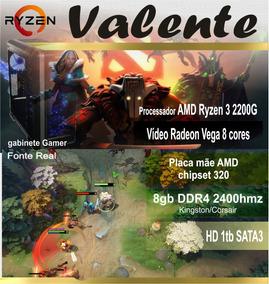 Computador Gamer Valente - Amd Ryzen 3 2200g Radeon Vega 8gb