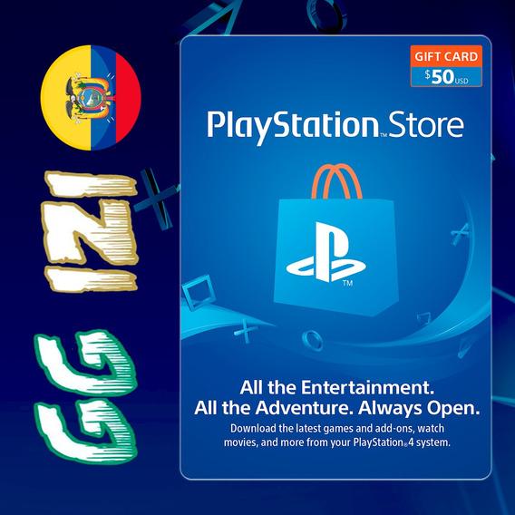Playstation Gift Card $50 - Tarjeta De Regalo Play Station