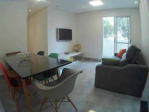 Apartamento Com 2 Dormitórios À Venda, 62 M² Por R$ 370.000 - Vila Caminho Do Mar - São Bernardo Do Campo/sp - Ap3122