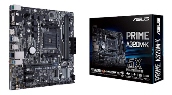 Motherboard Asus Prime A320m-k Am4 Ddr4 A320 3.0 Hdmi