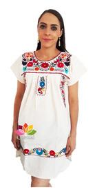 Vestido Dama Bordado Mexicano Artesanal Envío Incluido