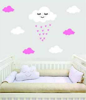 Adesivo Parede Decorativo Bebê Chuva Benção Amor 30 Coração
