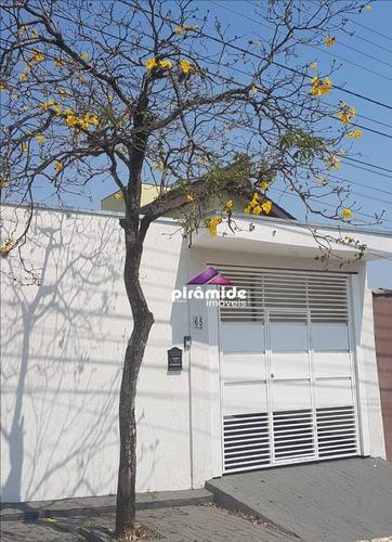 Casa Com 3 Dormitórios À Venda, 200 M² Por R$ 425.000,00 - Cidade Jardim - Jacareí/sp - Ca5815