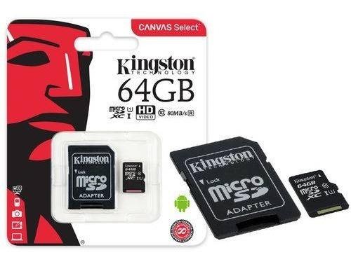 Cartão De Memória Classe 10 Micro Sd 64gb Kingston 80mb/s