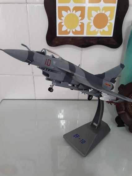 Modelo J-10 Firebird Chinese Fighter Jet Diecast 1/60