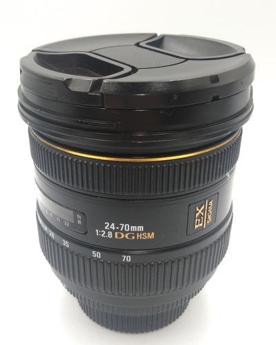 Lente Sigma 24-70mm 2.8- Nikon Excelente Estado Com Garantia