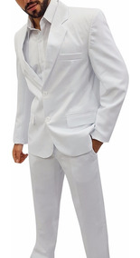 Terno Branco Oxford Masculino 42 Ao 58