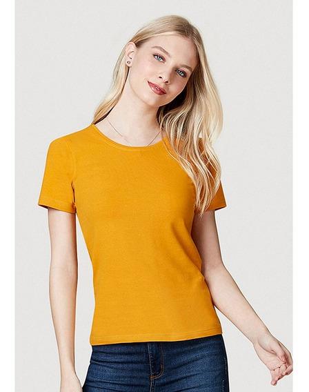 Camiseta Feminina Básica Em Algodão Hering