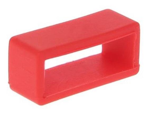 Presilha Ou Passante Pulseira Do Relógio Cor Vermelho 22mm