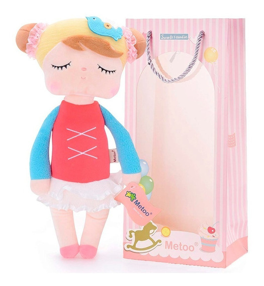 Boneca Metoo Doll Original Angela 35 Cm Bailarina C/ Sacola