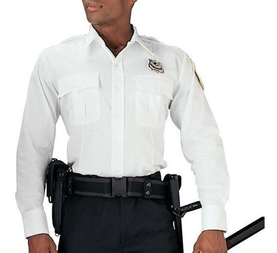 Camisas Rothco En Color Blanco, Para Guardias De Seguridad