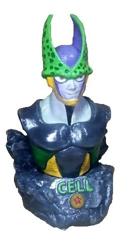 Busto De Cell (dragon Ball) Impresion 3d 12cm Alto