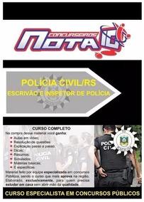 Concurso Polícia Civil Rs - Apostila+curso Ead Promoção