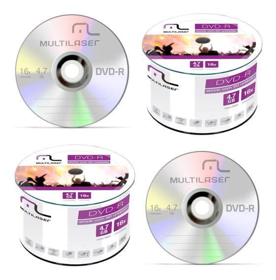 100 Midia Dvd-r Virgem Multilaser Original Gravável Com Logo 16x 4.7gb 120min Lacrado Promoção