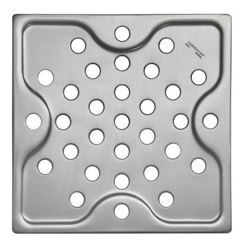 Tapa Rejilla Para Desagüe De Baño Acero 10x10 Cm Tramontina