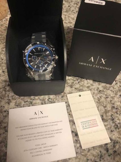 Reloj Armani Exchange Enzo Ax1831 Acero Inoxidable Negro