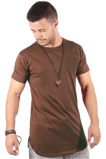 Camisetas Camisa Blusa Oversized Longline Masculina Swag