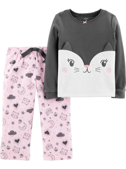 Pijamas 2 Piezas Micropolar Carters Nena Varon 2 A 8 Años