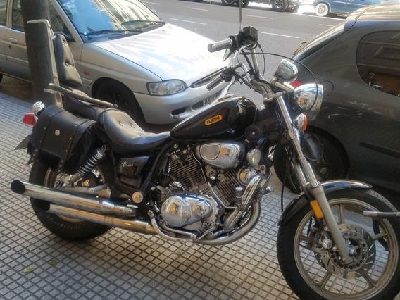 Yamaha Virago 750 Chopera Año 91 Negro Con Alforja