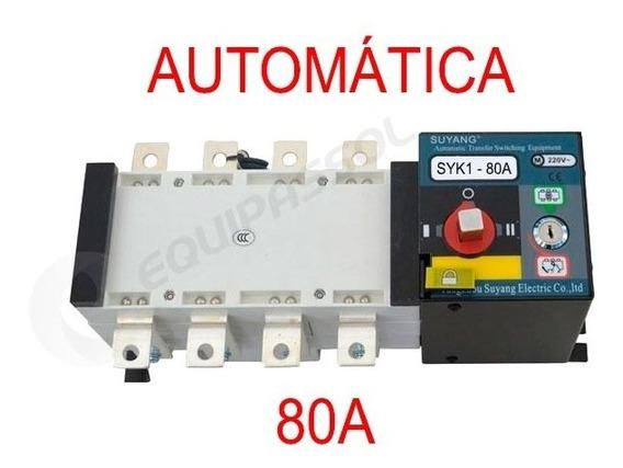 Chave De Transferência Automática 80a 4 Polos Motorizada