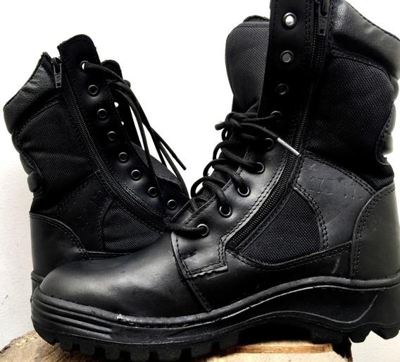 Botas Tácticas Hombre Policía Militar Piel Legítima Premium