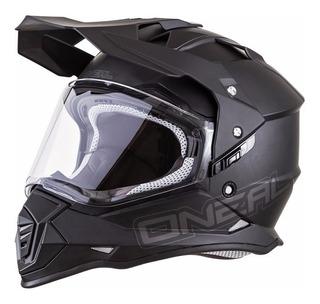 Casco Motocross Enduro Oneal Sierra 2 Flat Black Negro Mate