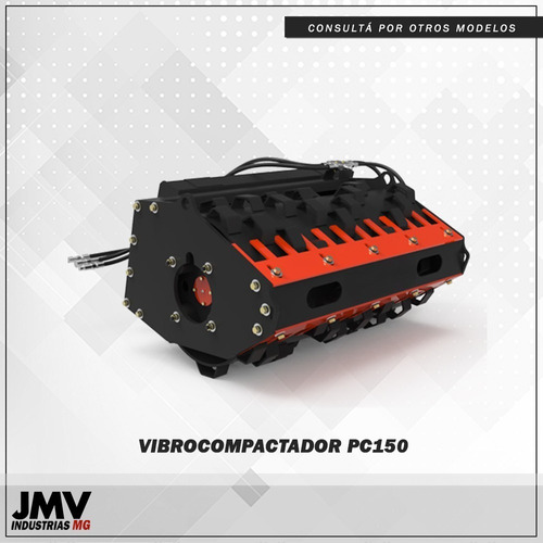 Imagen 1 de 8 de Implemento Jmv Vibrocompactador Patacabravp150 Minicargadora