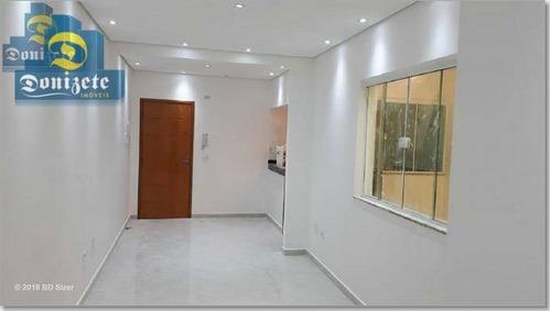 Cobertura À Venda, 114 M² Por R$ 419.000,00 - Vila Camilópolis - Santo André/sp - Co1608