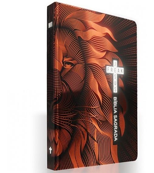 Bíblia Sagrada Jesus Freak Leão Bronze Nvi