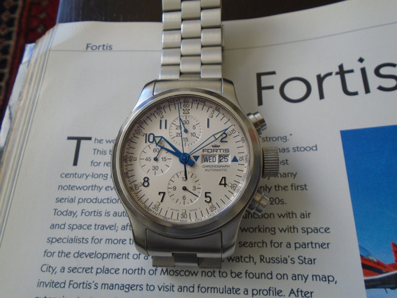 Relógio Fortis B 42 Automático Pulseira De Aço