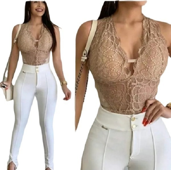 Kit 3 Bory Renda Feminino Blusa Moda Lançamento Blogueira