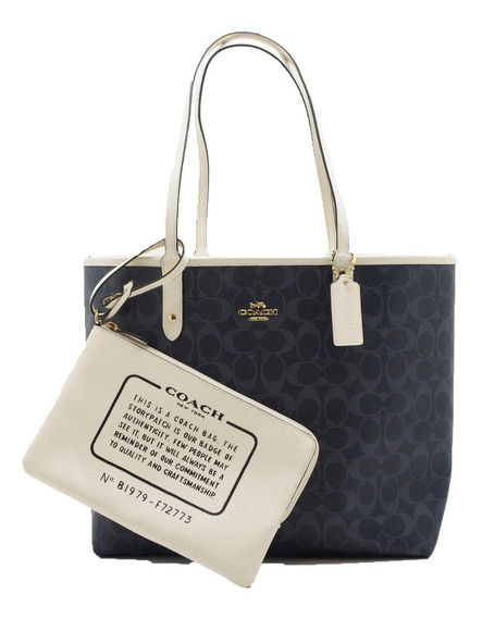 Bolsa Coach Tote Reversible Signature