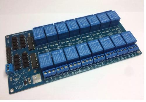 Imagem 1 de 1 de Shield Arduino | Módulo 16 Reles 5vdc X 10a