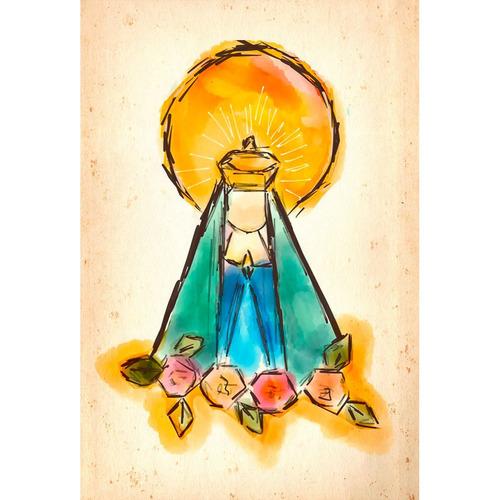 Imagem 1 de 1 de Placa - Decorativa - Grande - Nossa Senhora - (gv310)